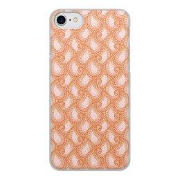 """Чехол для iPhone 8, объёмная печать """"Розовый пейсли (бута) для девушки"""" - девушка, орнамент, подарок, пейсли, мехенди"""