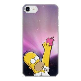 """Чехол для iPhone 8, объёмная печать """"Гомер"""" - гомер"""
