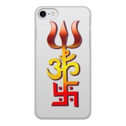 """Чехол для iPhone 8, объёмная печать """"Индийский оберег"""" - ом, символ, индия, индуизм, индийский"""