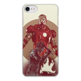 """Чехол для iPhone 8, объёмная печать """"Железный человек"""" - комиксы, мстители, марвел, iron man, тони старк"""