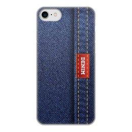 """Чехол для iPhone 8, объёмная печать """"Джинсовый арт"""" - абстракция, джинсы, ткань, jeans, denim"""
