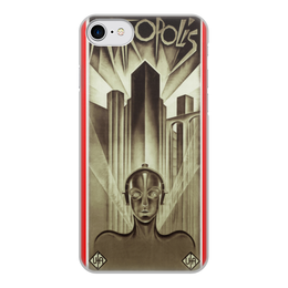"""Чехол для iPhone 8, объёмная печать """"Афиша к фильму «Метрополис», 1927 год"""" - фильм, афиша"""