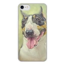 """Чехол для iPhone 8, объёмная печать """"БУЛЬТЕРЬЕР"""" - картина, иллюстрация, собаки, породы"""