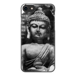 """Чехол для iPhone 8, объёмная печать """"Будда (Письмена)"""" - философия, buddha, будда, буддизм, духовность"""