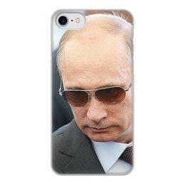 """Чехол для iPhone 8, объёмная печать """"ПУТИН. ПОЛИТИКА"""" - арт, стиль, очки, россия, президент"""