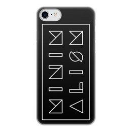 """Чехол для iPhone 8, объёмная печать """"Минимализм"""" - надпись, текст, геометрия, буквы, минимализм"""
