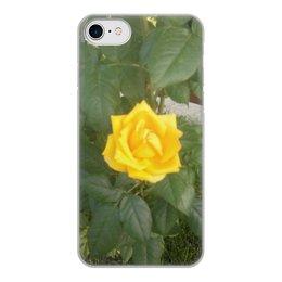 """Чехол для iPhone 8, объёмная печать """"Желтая Роза"""" - лето, цветы, розы, флористика"""