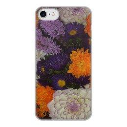 """Чехол для iPhone 8, объёмная печать """"Цветочный фреш."""" - цветы, радость, букет, астра, цветник"""