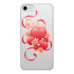 """Чехол для iPhone 8, объёмная печать """"Любимой на 14 февраля"""" - цветы, 14фев"""
