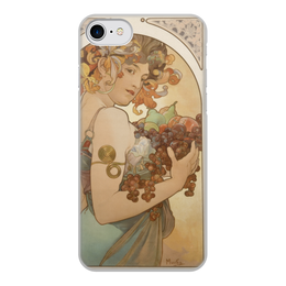 """Чехол для iPhone 8, объёмная печать """"Любимой жене"""" - картина, 8 марта, альфонс муха, девушка, арт"""