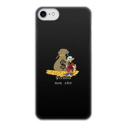"""Чехол для iPhone 8, объёмная печать """"Деньги не пахнут. Деньги. Скрудж Макдак. """" - цитаты, money, утиные истории, duck tales, скрудж макдак"""