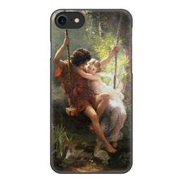 """Чехол для iPhone 8, объёмная печать """"Весна (Пьер Огюст Кот)"""" - кот, картина, живопись"""
