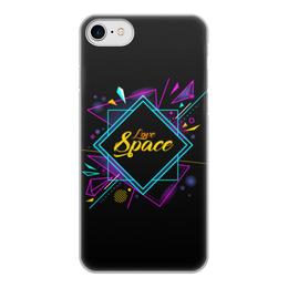 """Чехол для iPhone 8, объёмная печать """"Love Space"""" - звезды, космос, вселенная"""