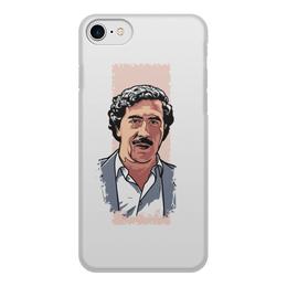 """Чехол для iPhone 8, объёмная печать """"Пабло Эскобар"""" - эскобар, pablo escobar, наркобарон, пабло эскобар, narco"""