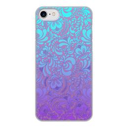 """Чехол для iPhone 8, объёмная печать """"Мираж"""" - рисунок, гжель, роспись"""