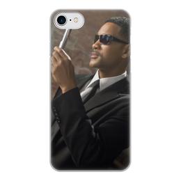 """Чехол для iPhone 8, объёмная печать """"Вспышка - Стирание памяти"""" - уилл смит, люди в черном, вспышка, men in black, стирание памяти"""