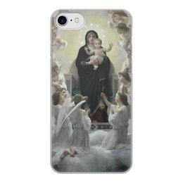 """Чехол для iPhone 8, объёмная печать """"La Vierge aux anges (картина Вильяма Бугро)"""" - картина, академизм, живопись, христианство, бугро"""