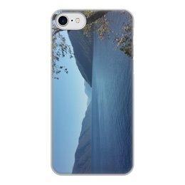 """Чехол для iPhone 8, объёмная печать """"Удивительный Алтай"""" - лето, природа, горы, горный алтай, телецкое озеро"""