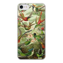 """Чехол для iPhone 8, объёмная печать """"Колибри Эрнста Геккеля"""" - 14 февраля, 8 марта, птицы, картина, эрнст геккель"""