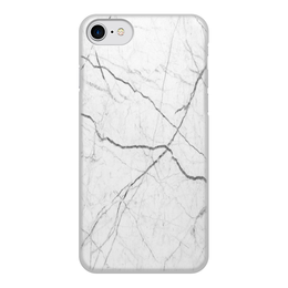 """Чехол для iPhone 8, объёмная печать """"Мрамор"""" - серый, белый, черный, иллюзия, эффект"""