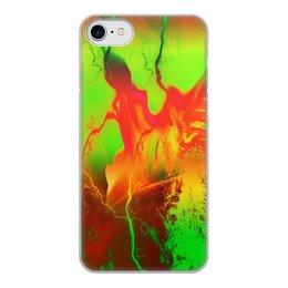 """Чехол для iPhone 8, объёмная печать """"Пятна краски"""" - узор, космос, пятна, краски, абстракция"""