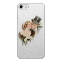 """Чехол для iPhone 8, объёмная печать """"День Святого Валентина"""" - настроение, картина, винтаж, harrison fisher, 14фев"""