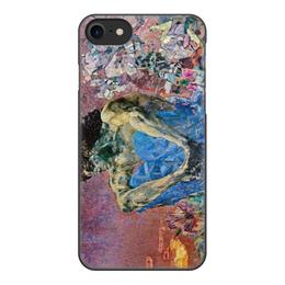 """Чехол для iPhone 8, объёмная печать """"Демон сидящий (Михаил Врубель)"""" - картина, живопись, врубель"""