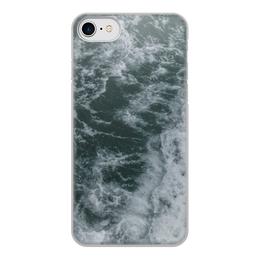 """Чехол для iPhone 8, объёмная печать """"Морские прогулки"""" - лето, море, волны, отпуск, морская прогулка"""