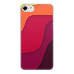 """Чехол для iPhone 8, объёмная печать """"Волнистая"""" - стиль, рисунок, узор, волнистый, абстрактный"""