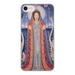"""Чехол для iPhone 8, объёмная печать """"Дева (картина Джозефа Стеллы)"""" - картина, живопись, футуризм, абстракционизм, стелла"""