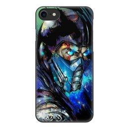 """Чехол для iPhone 8, объёмная печать """"Mortal Kombat X (Sub-Zero)"""" - космос, воин, боец, mortal kombat, sub-zero"""