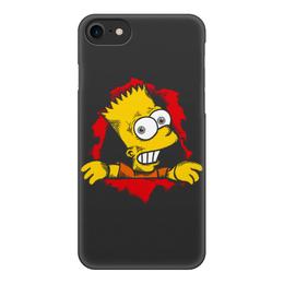 """Чехол для iPhone 8, объёмная печать """"Барт Симпсон"""" - the simpsons, симпсон"""
