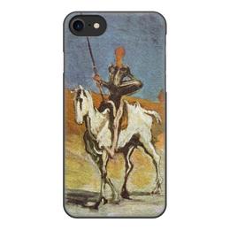 """Чехол для iPhone 8, объёмная печать """"Дон Кихот (картина Оноре Домье)"""" - картина, живопись, домье"""