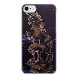 """Чехол для iPhone 8, объёмная печать """"ЕДИНОРОГ"""" - стиль, красота, вода, фэнтези, звездное небо"""