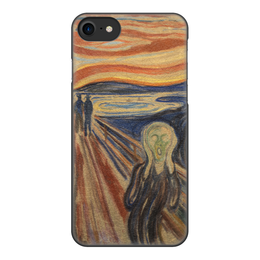 """Чехол для iPhone 8, объёмная печать """"Крик (картина Мунка)"""" - картина, живопись, мунк"""
