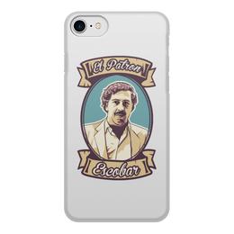 """Чехол для iPhone 8, объёмная печать """"Пабло Эскобар"""" - нарко, pablo escobar, escobar, наркобарон, пабло эскобар"""