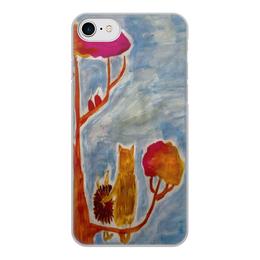 """Чехол для iPhone 8, объёмная печать """"Счастье"""" - любовь, счастье, дружба, ежик"""
