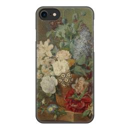 """Чехол для iPhone 8, объёмная печать """"Цветы в терракотовой вазе"""" - картина, живопись"""