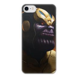 """Чехол для iPhone 8, объёмная печать """"Танос"""" - comics, комиксы, мстители, марвел, thanos"""