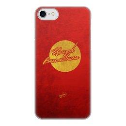"""Чехол для iPhone 8, объёмная печать """"Центр Внимания - Ego Sun"""" - золото, солнце, леттеринг, эго, престиж"""