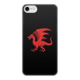 """Чехол для iPhone 8, объёмная печать """"дракон"""" - крылья, животные, дракон, dragon, динозавр"""