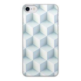 """Чехол для iPhone 8, объёмная печать """"Кубическая иллюзия"""" - узор, куб, абстрактный, иллюзия, текустура"""
