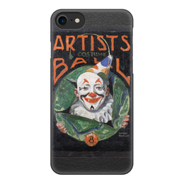 """Чехол для iPhone 8, объёмная печать """"Artists Costume Ball (Норман Роквелл)"""" - клоун, живопись, оно, роквелл"""