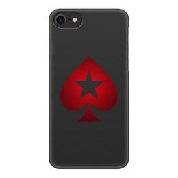 "Чехол для iPhone 8, объёмная печать ""POKERSTARS"" - спорт, покер, казино, pokerstars, full tilt poker"