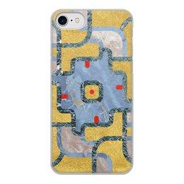 """Чехол для iPhone 8, объёмная печать """"Мандала Богатства Золото и Мрамор (Орнамент)"""" - узор, орнамент, камень, богатство, премиум"""