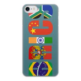 """Чехол для iPhone 8, объёмная печать """"BRICS - БРИКС"""" - россия, китай, индия, бразилия, юар"""