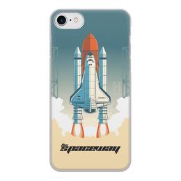 """Чехол для iPhone 8, объёмная печать """"Покорение космоса"""" - космос, ракета, астрономия, шатл, thespaceway"""