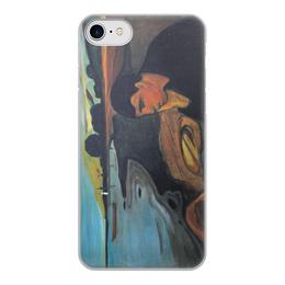 """Чехол для iPhone 8, объёмная печать """"Меланхолия (Эдвард Мунк)"""" - картина, живопись, интроверт, мунк"""