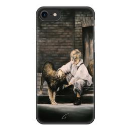 """Чехол для iPhone 8, объёмная печать """"Делая добро"""" - жизнь, мальчик, собака, живопись, добро"""