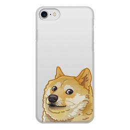 """Чехол для iPhone 8, объёмная печать """"Пёс - лучший друг"""" - пёс, собака, друг, всё очень плохо"""